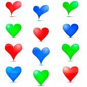 image of tangram  - Heart Icon - JPG