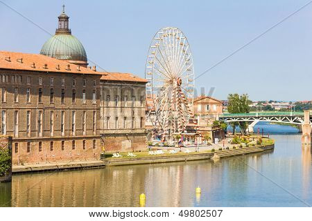 Pont Saint Pierre Bridge Over The Garonne River, Toulouse, France