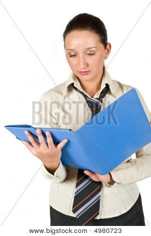 Student Girl With Folder