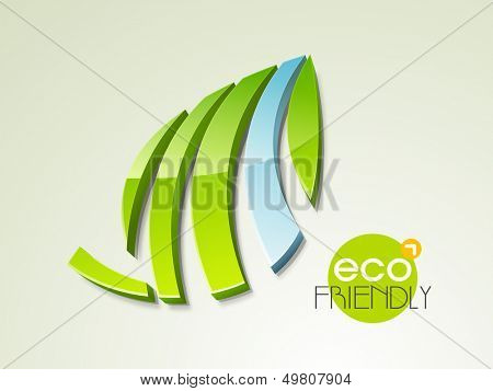 Save the nature concept with green leaves and water.