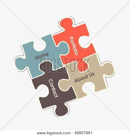 Abstract business puzzle background.