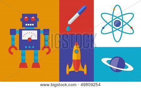 Rocket Science Vector Symbols