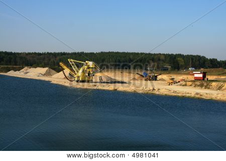 rocks and gravel quarry