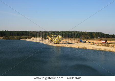 rocks and gravel quarry