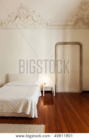 beautiful interior of hotel, view classic bedroom
