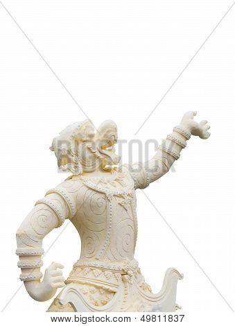 Hanuman Statue Isolated