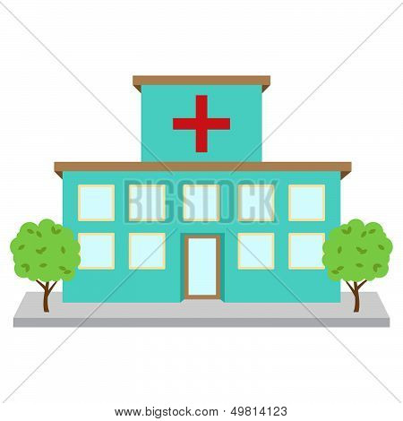 Bright and Colorful Vector Hospital or Medical Facility