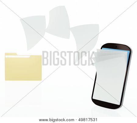 File transfer on mobile