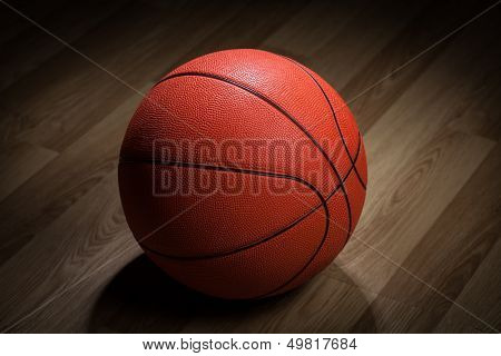 Closeup Of Basketball Ball