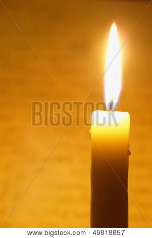 Brightly Flaring Candle