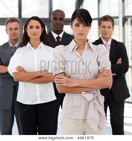 Potrait Of A Young Multi-racial Business Group