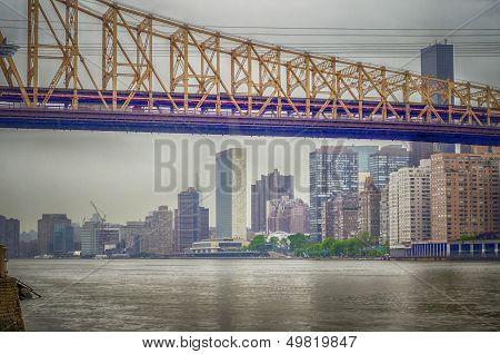 Queensboro Bridge And United Nations Headquarters, Manhattan