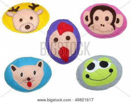 Deer, Cock, Monkey, Frog And Cat