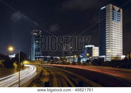 Modern Skyscrapers In The Tel Aviv
