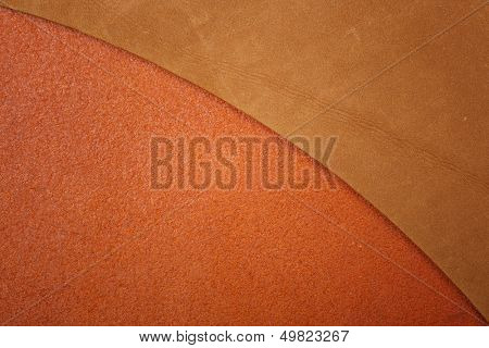 Two brown leather texture