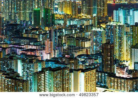 Kowloon downtown at night