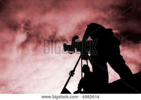 Cameraman With Silhouette