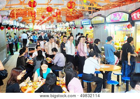 Hawker Center In Singapore