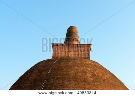 Top Of Dagoba (stupa) In Sri Lanka