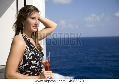 Attractive Young Woman On A Cruiuse