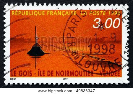 Postage Stamp France 1998 Le Gois Causeway