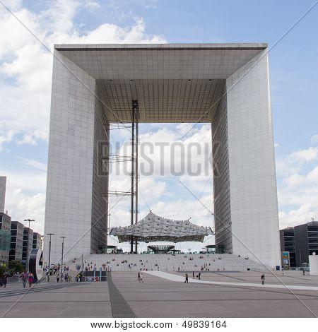 Paris - July 28: The Grand Arch (la Grande Arche De La Defense) On July 28, 2013 In Paris, La Defens