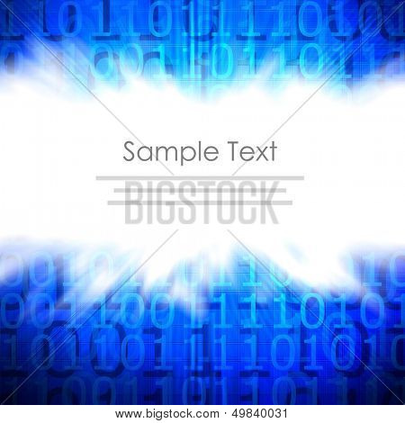 binary code background with space