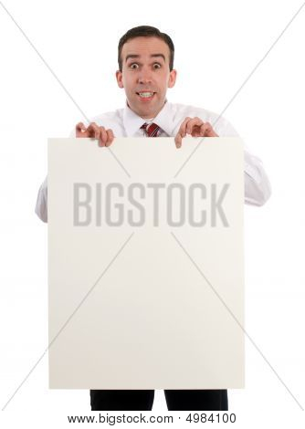 Man Holding Sheet Of Paper