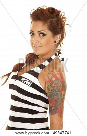 Woman Tattoos Side Close Guilty