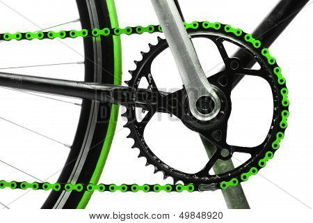 Green Bicycle Chain