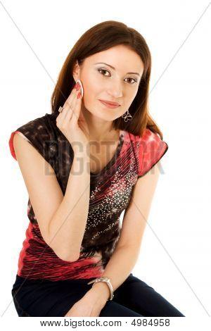 Woman Using Wadof Cotton Wool
