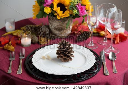 Colorful Reception Table Setting