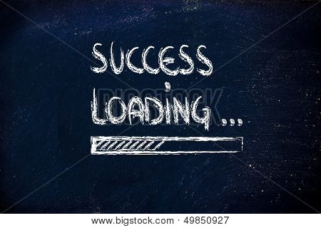 Success Loading, Progress Bar On Blackboard