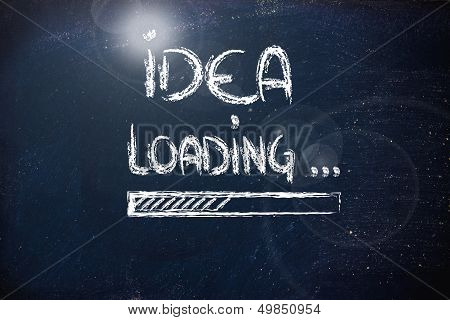 Idea Loading, Progress Bar On Blackboard