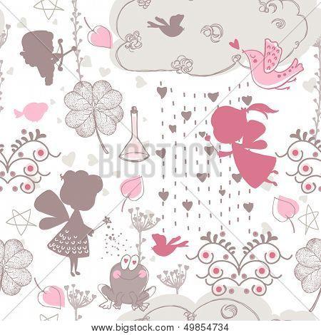 seamless love theme pattern