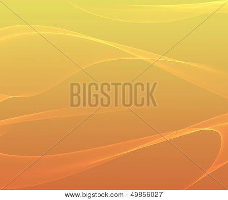 Orange Smooth Abstract Background With Shining Light.