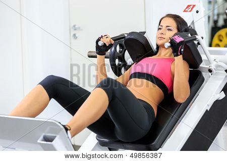 Girl In Health Club