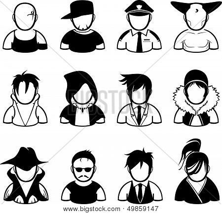 set of people icon