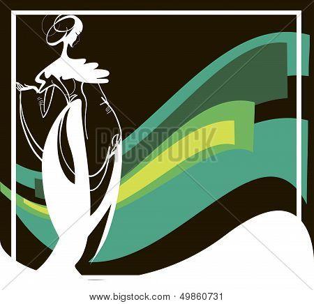 Silhouette Of A Female Figureb