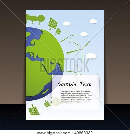 Постер, плакат: Экологически планеты | Флаер векторные иллюстрации, холст на подрамнике