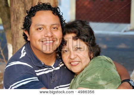 Hispanic Mother And Grown Son