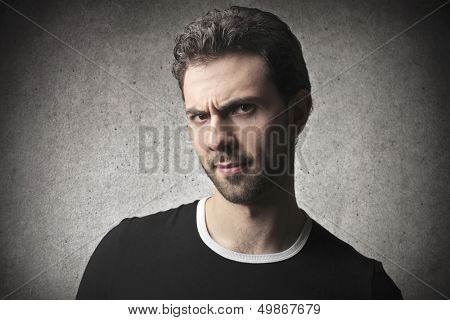 portrait of man with a grudge