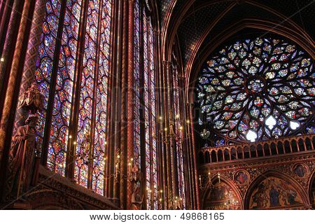 PARIS - NOVEMBER 06: The Sainte-Chapelle one of the most visited landmark in Paris, November 06, 2012. This 1246 inspired monument features 15 wonderful stain-glass windows in Paris.