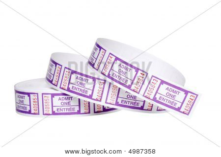 Isolated Roll Of Tickets