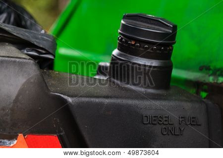 Diesel Fuel Only Marked On Fuel Tank Of A Car
