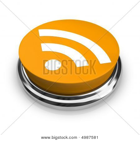 Rss Symbol - Orange Button