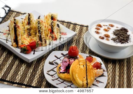 Bread Toast, Candil Porridge And Pancake