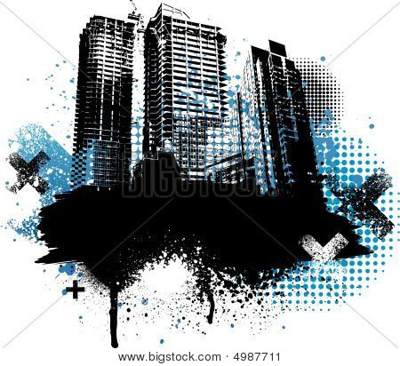 Black City Grunge Design