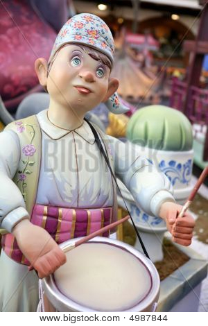 Fallas From Valencia, Spain Celebration Cartoon Figures