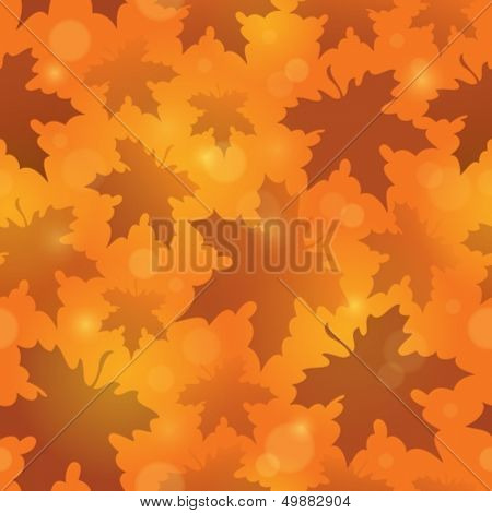 Leafy seamless background 4 - eps10 vector illustration.